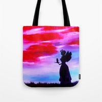 astrology Tote Bags featuring The Astrology  sign VIRGO by Krista May