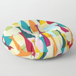 Ollie Cat Bohemian Colorful Pattern Floor Pillow