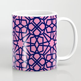 Whisper Pink Geometric Pattern Coffee Mug