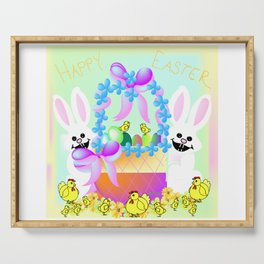 """Easter Chicks And Bunnies"" Serving Tray"