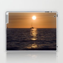 Summersunset with Boat - Warnemuende - Baltic Sea Laptop & iPad Skin