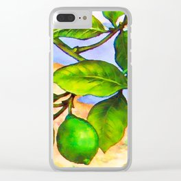 Branch of a lemon tree in Summer Clear iPhone Case
