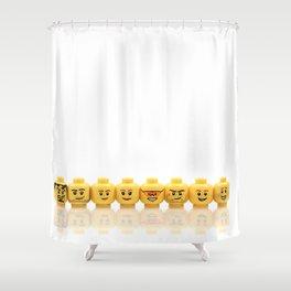 LEGO Yellow Heads Shower Curtain