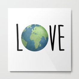 Love The Earth Metal Print