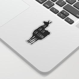 Holiday Cheer Llama Sticker
