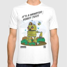 Monster robot toy Mens Fitted Tee White MEDIUM