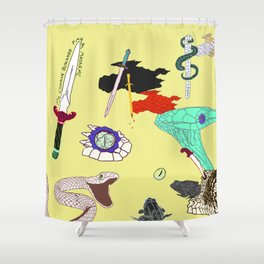 Collab - DaggerSnakes Shower Curtain