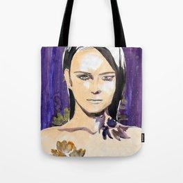 Purple beauty fashion lllustration Tote Bag