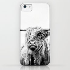 portrait of a highland cow - vertical orientation iPhone 5c Slim Case