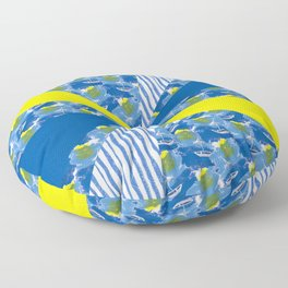 Sailing on Stormy Seas Floor Pillow