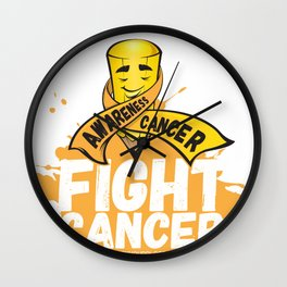 Fight Cancer, Cancer Awareness Wall Clock