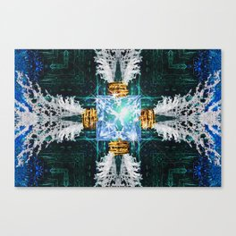 Embrace Blue Canvas Print