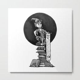 Gnome Adventure Contract Metal Print