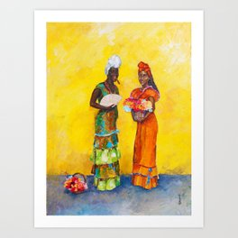 Flower Ladies Art Print