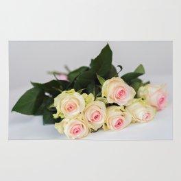 Romantic tender rosesfor beloved only Rug