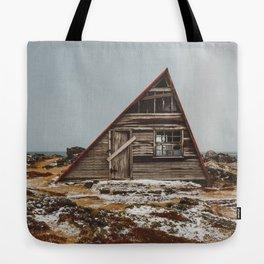 Icelandic Asymmetrical A-Frame Cabin Tote Bag