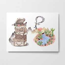 Let's Go Adventuring Metal Print