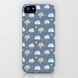 Kawaii Stormy Weather iPhone Case