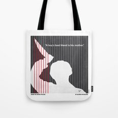 No185 My Psycho minimal movie poster Tote Bag