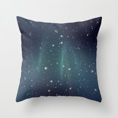 Aurora Stars Throw Pillow