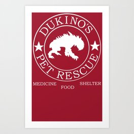 Dukino's Pet Rescue Art Print