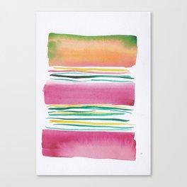 4  |181026 Lines & Color Block | Watercolor Abstract | Modern Watercolor Art Canvas Print