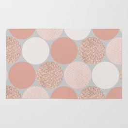 Rose Gold Dots Rug