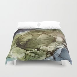 Calm Nature- Earth Inspired Abstract Painting Duvet Cover