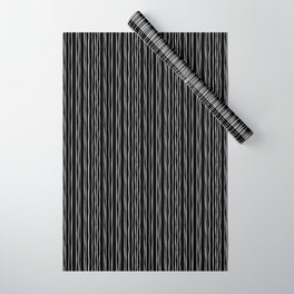 Wide Black Stripe Wrapping Paper