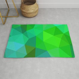 Emerald Low Poly Rug