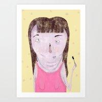Mascara Problems Art Print