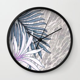 Denim Blooms Forever Wall Clock