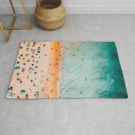 Large Aerial Beach Print, Printable Beach Art, Beach Wave Art, Aerial Beach Photography, Coastal Art, Ocean Print, Modern Art Rug