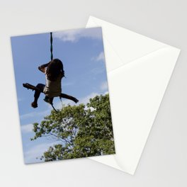 Girl on Swing Stationery Cards