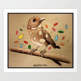Bird Bits Art Print