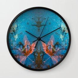 Leaf in my Pond Wall Clock