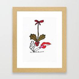 No Time For Romance Framed Art Print