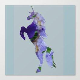 Unicorn Flowers Art Canvas Print