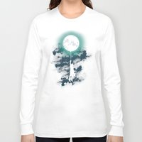 night Long Sleeve T-shirts featuring Burn the midnight oil  by Picomodi