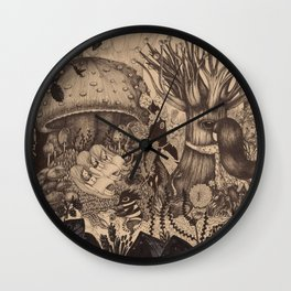 Confessing to the old tree Wall Clock