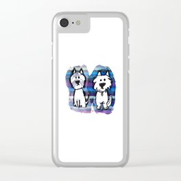 Two very serious Westies Clear iPhone Case