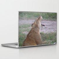 simba Laptop & iPad Skins featuring Sleepy Simba by Fer Ruz