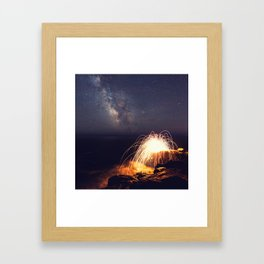Fire in the Night Framed Art Print