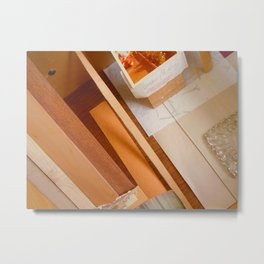 Inside The Drawer Metal Print