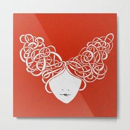 Iconia Girls - Isabella Red Metal Print