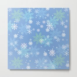 blue snow Metal Print