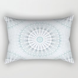 Teal Aqua Mandala Rectangular Pillow