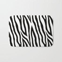 Black & white zebra fur pattern 03 Bath Mat