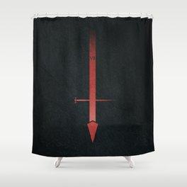 Sith lightsaber, starwars, dark side. Shower Curtain
