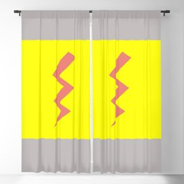 Pink Lightning Blackout Curtain